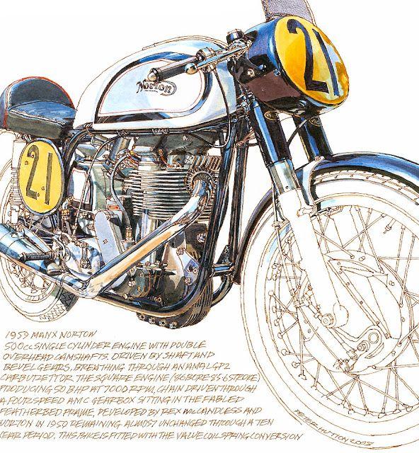 Peter Hutton's illustrations - pretty bike