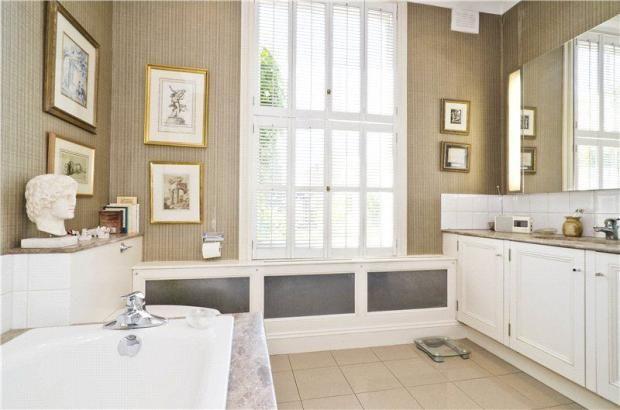 shutters in bathroom