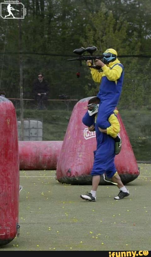 paintball, minions