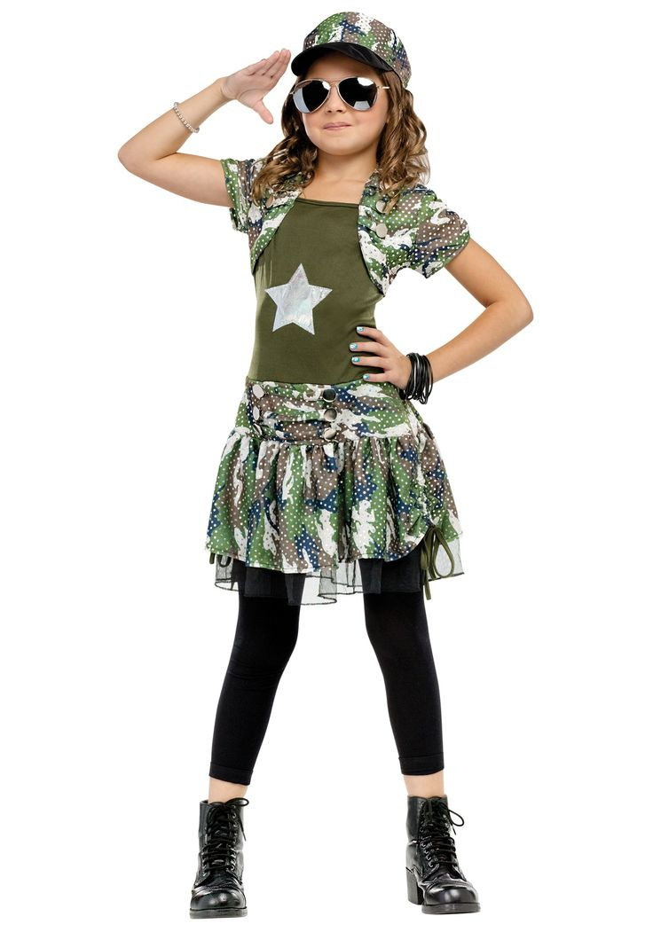 army girl costume for kids | ... Costumes Army Costumes Kids Army Costumes Camo Army Brat Girls Costume