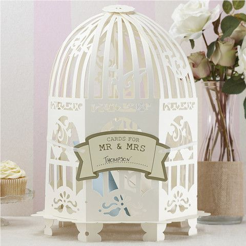 Wedding Message #Birdcage #Guestbook - This unique wedding day essential allows your guests to 'post' their cards and wishes in to the birdcage for safe-keeping.  #Cute #Wedding #Essentials By Cadeaux - Cadeaux.ie
