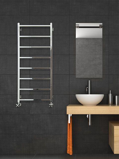 stainless steel towel radiators, stainless steel bathroom radiators, stainless steel heated towel rails,