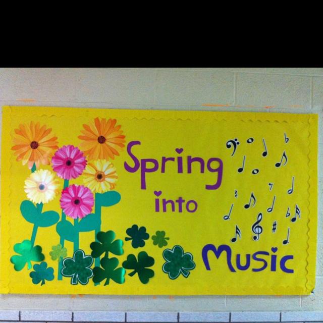 My March music bulletin board @ school!