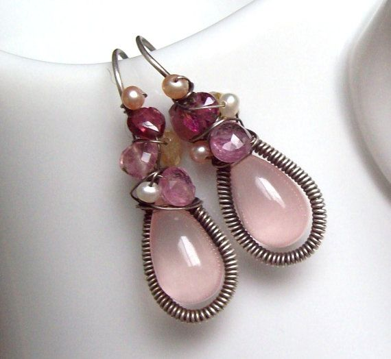 Spring Time Earrings by SparrowsJewels on Etsy, $85.00