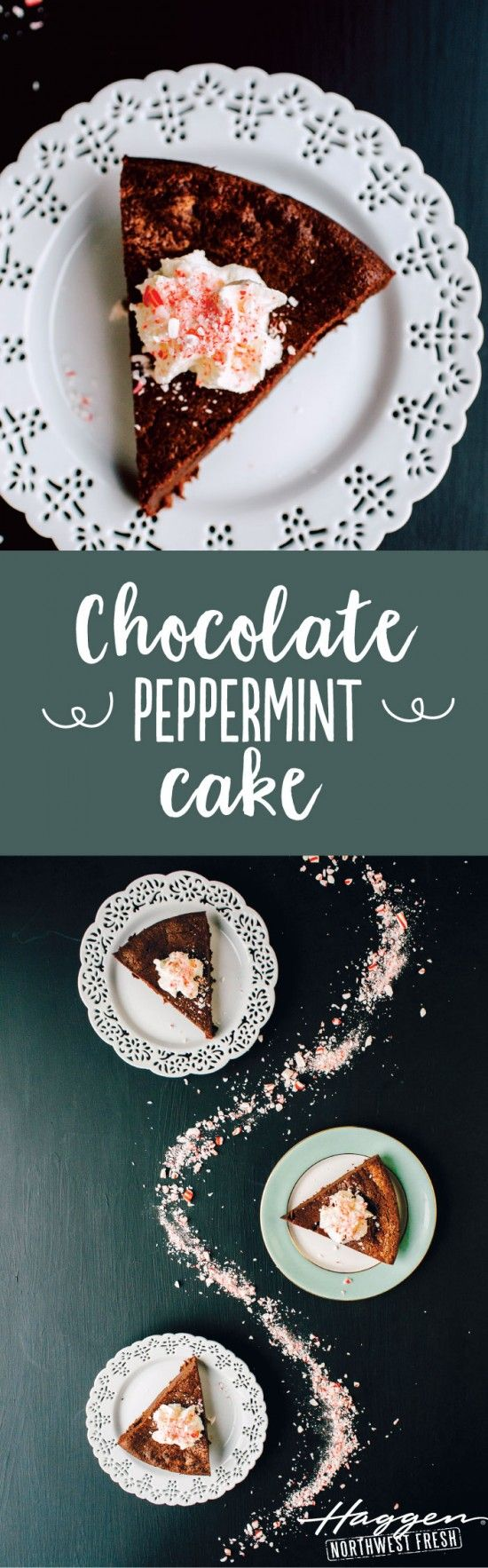 Baby, it's cold outside but the desserts are plentiful with this Chocolate Peppermint Cake recipe.