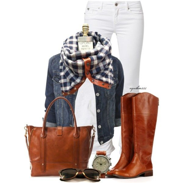 Plaid Scarf, created by cynthia335 on Polyvore