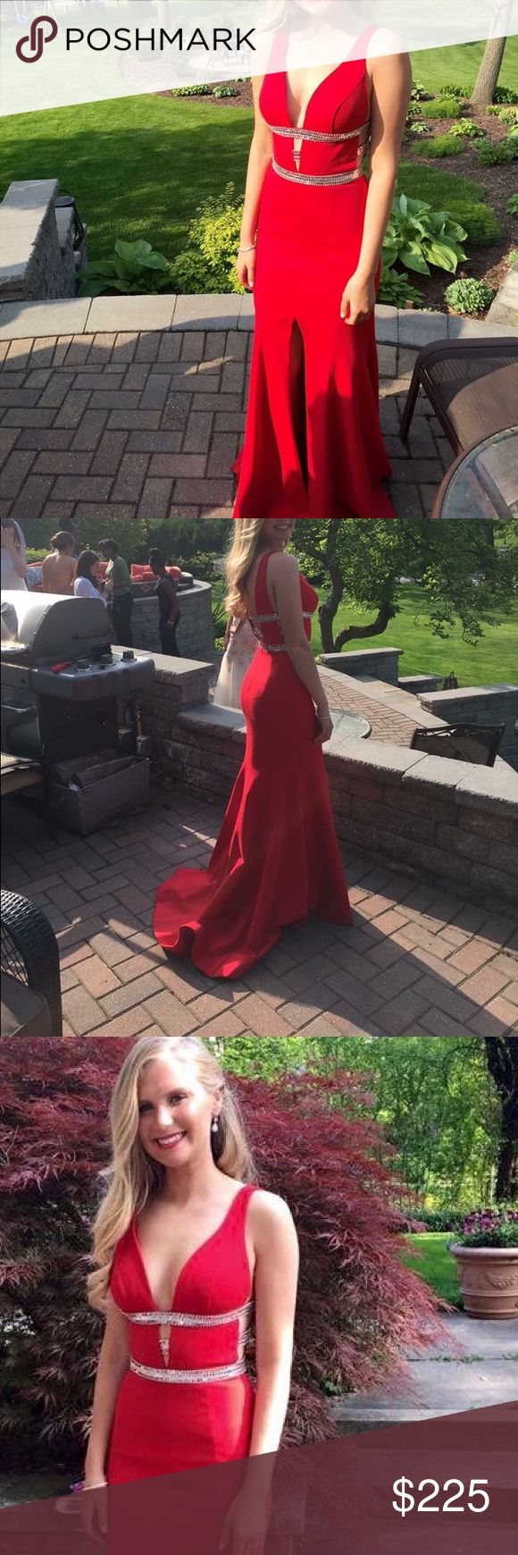 Prom dress Sherri Hill red prom dress, size 2, originally $500 selling for $200!!!! Contact me moore273@umail.iu.edu for questions!! Sherri Hill Dresses Prom