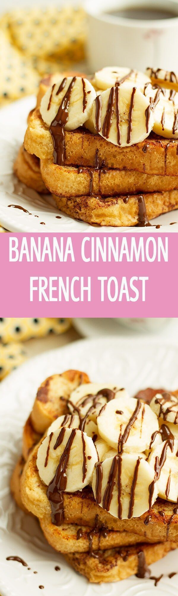 The most easiest banana cinnamon french toast recipe is perfect for breakfast or brunch. 6 ingredients cinnamon french toast is drizzled with chocolate by http://ilonaspassion.com I /ilonaspassion/