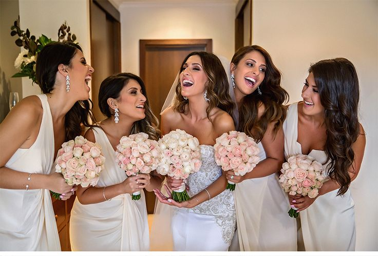 Fashion-Inspired Wedding in Melbourne, Australia - Be inspired by Vicki & Stephen's luxurious and fashionable wedding in Melbourne, Australia #wedding #luxury #couture #fashion #inspired #melbourne #australia #greek #orthodox #bridesmaids #laughing #bouquet #dress #earring #gift #idea