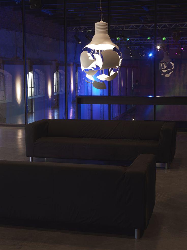 Scheisse is a large pendant lamp design by Hans Bleken Rud