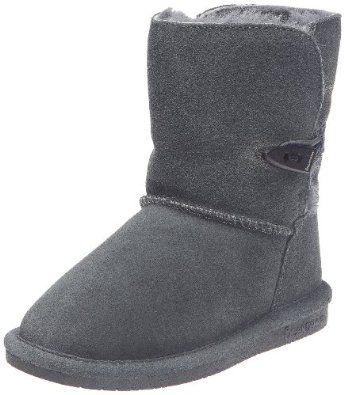 BEARPAW Abigail Boot (Little Kid/Big Kid) Bearpaw. $34.00. suede; Flexible sole; Rubber sole; Sheepskin footbed