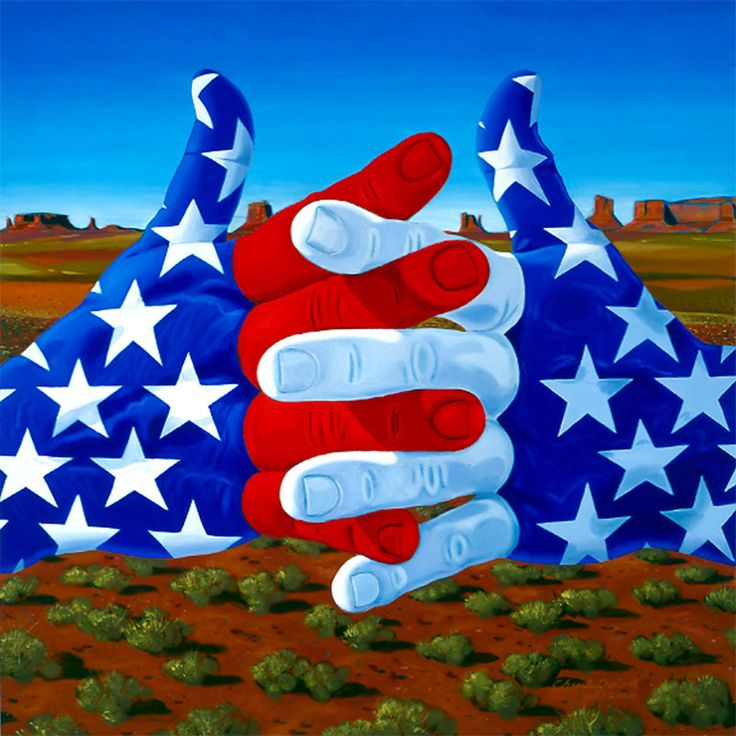 """America"" by Chuck Baird, deaf artist. His work really speaks. I love it"