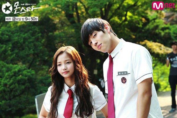 """Kang Ha Neul with Ha Yun Soo (Min Se Yi) in """"Monstar"""" series"""