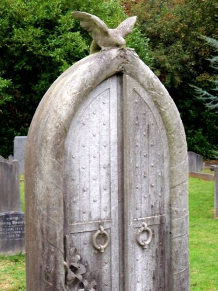Doors to eternity or Hell... interesting idea for a Halloween graveyard.