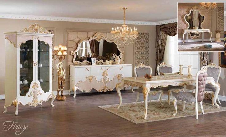Prag Lüks Klasik Yemek Odası Takımı.  #YemekOdası #DiningRoom #Decoration #Ev #Dekorasyon #Moda #Mobilya #Furniture