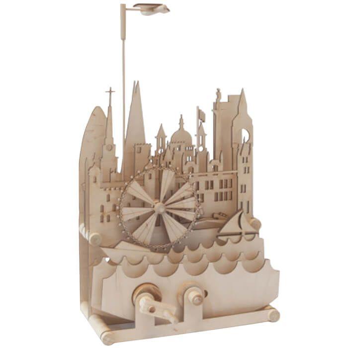 Mechanisch houten bouwset London skyline