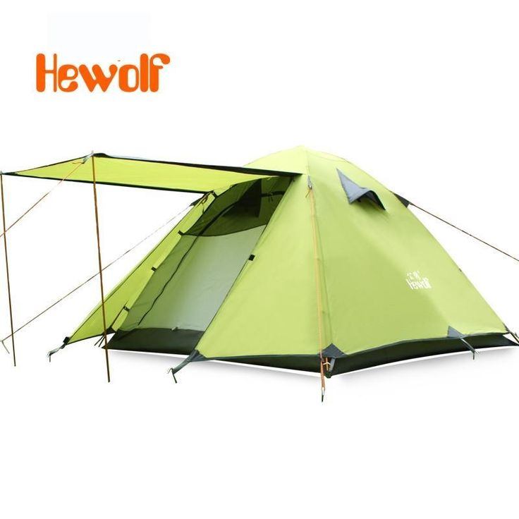 86.64$  Buy here - http://alimv4.worldwells.pw/go.php?t=32304957012 - Hewolf Camping Tents Travel Automatic Waterproof Double Layer 3-4 person Outdoor Hiking Beach Aluminum Alloy Four Season Tent