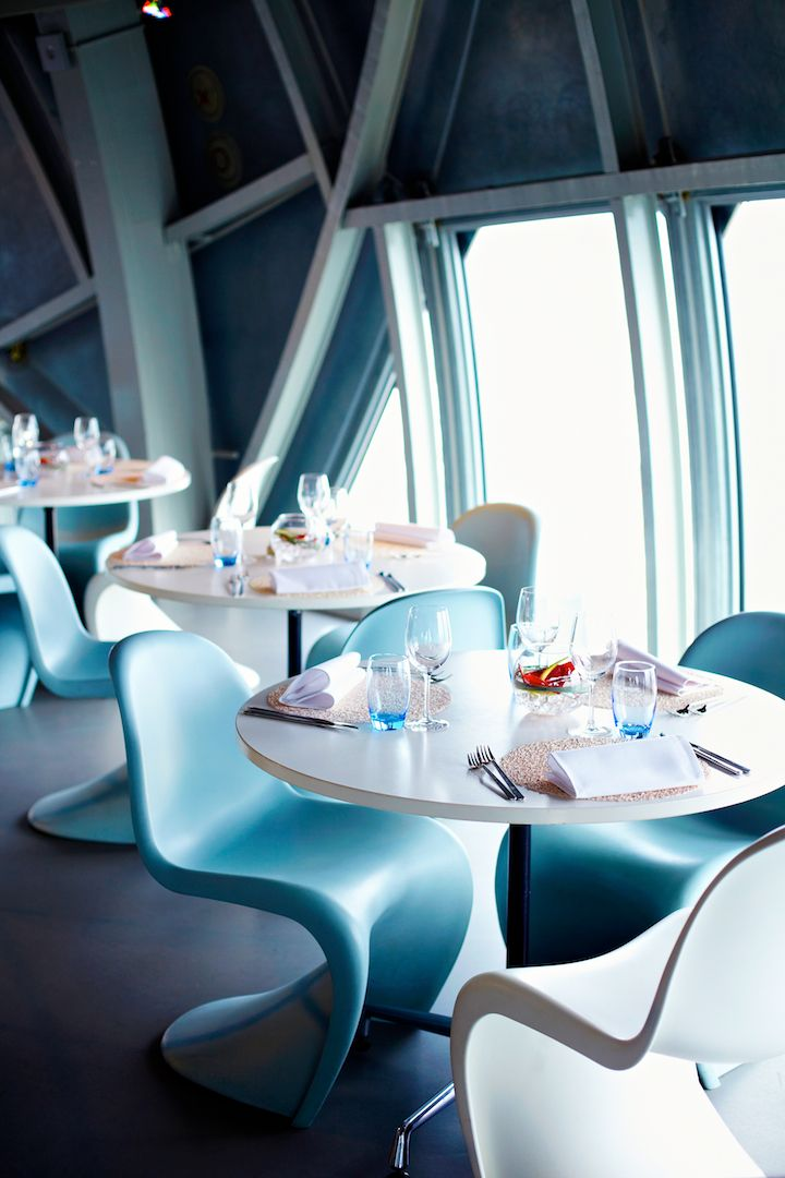 Panoramic Restaurant of the Atomium [Belgian Gastronomy] #atomium #bruxelles #brussels #brussel #restaurant #panoramic #gastronomic #gourmet #lunch #dinner #romantic #place #business #girly