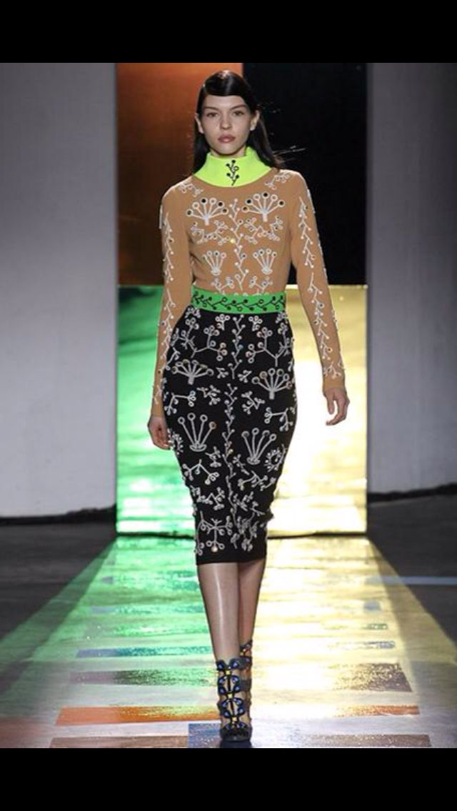 Peter Pilotto. This whole collection made me feel like I was watching a video game. Love the colour combos here