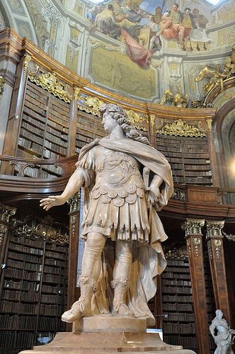 I would feel high culture seaping in, as I read a book in the Vienna Library...