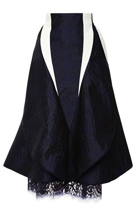 Slash Flared High Hip Skirt by Thom Browne for Preorder on Moda Operandi