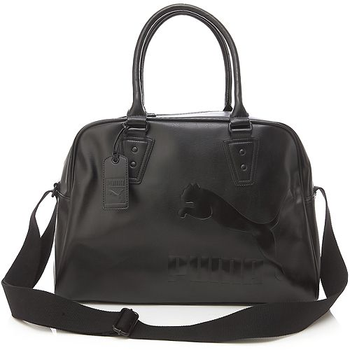 BN Puma Original Mono Synthetic Leather Shoulder Hand Travel BAG IN Black | eBay