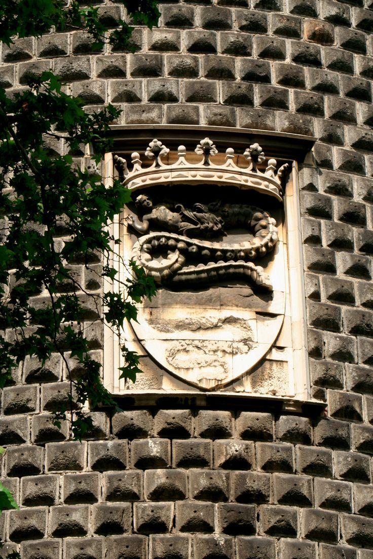 Coat of Arm of the Visconti and Sforza Family. Sforza Castle, Milan.