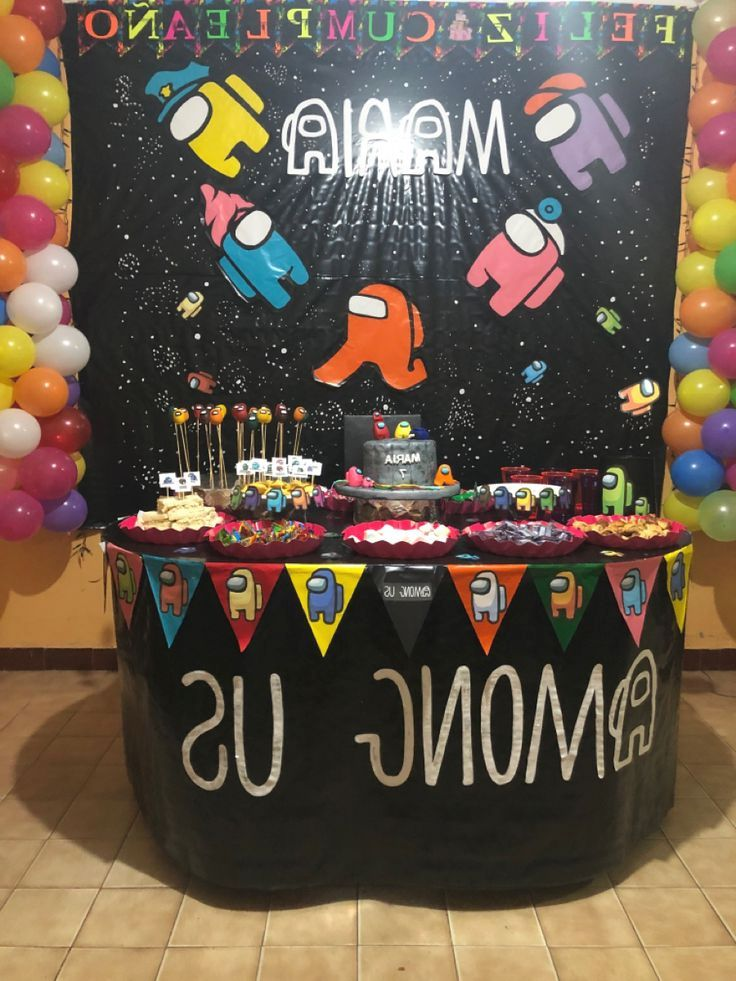 Download Download Of Happy Birthday Among Us Theme In 2021 Birthday Bday Party Kids 10th Birthday Parties