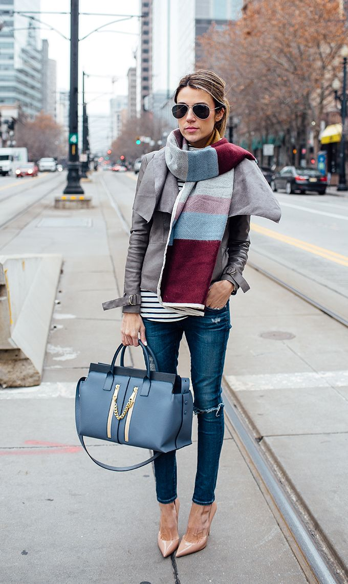 Oversized Plaid Scarf | Winter Look | Hello Fashion Blog: