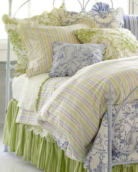 Image Detail For Pine Cone Hill Cottage Toile Celery Quilt Bedding