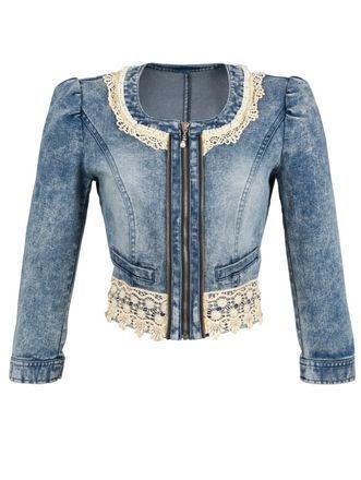Spijkerjasje, blauw, Amy Vermont Design