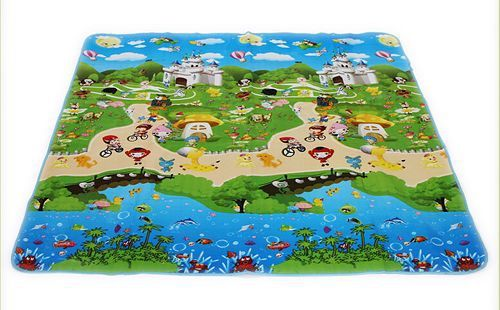 beach Baby toy double-faced foam Play Mat, Letter animal paradise Safety+Gym floor Mat,Kids Climb Blanket 270370