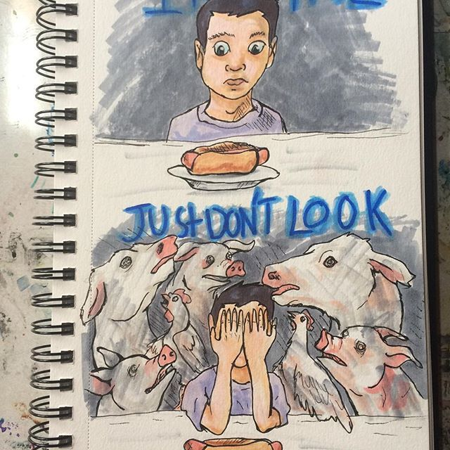 #meat #meatlovers #sausage #food #foodporn #hamburger #bacon #dinner #eggs #milk #jamieoliver #fuckvegans #ihatevegans #antivegan #feminism #egalitarian #equality #vegetarian #vegan  #meatismurder #icecream   #art #traditionalart #veganart #socialart #sorryvegans