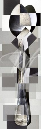 "Piece:  ""Spoon"".  Artist:  Pep Ventosa.  Size:  18"" x 48"".  Presentation: canvas."