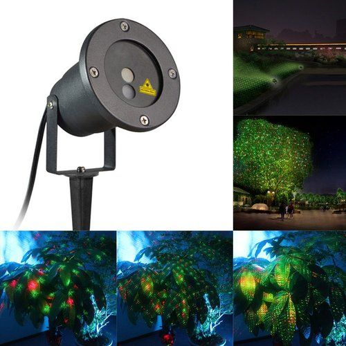 MareLight Outdoor Laser Christmas Light Projector, Red and Green Star Laser Show for Halloween, Christmas, Holiday, Party, Landscape, and Garden Decoration