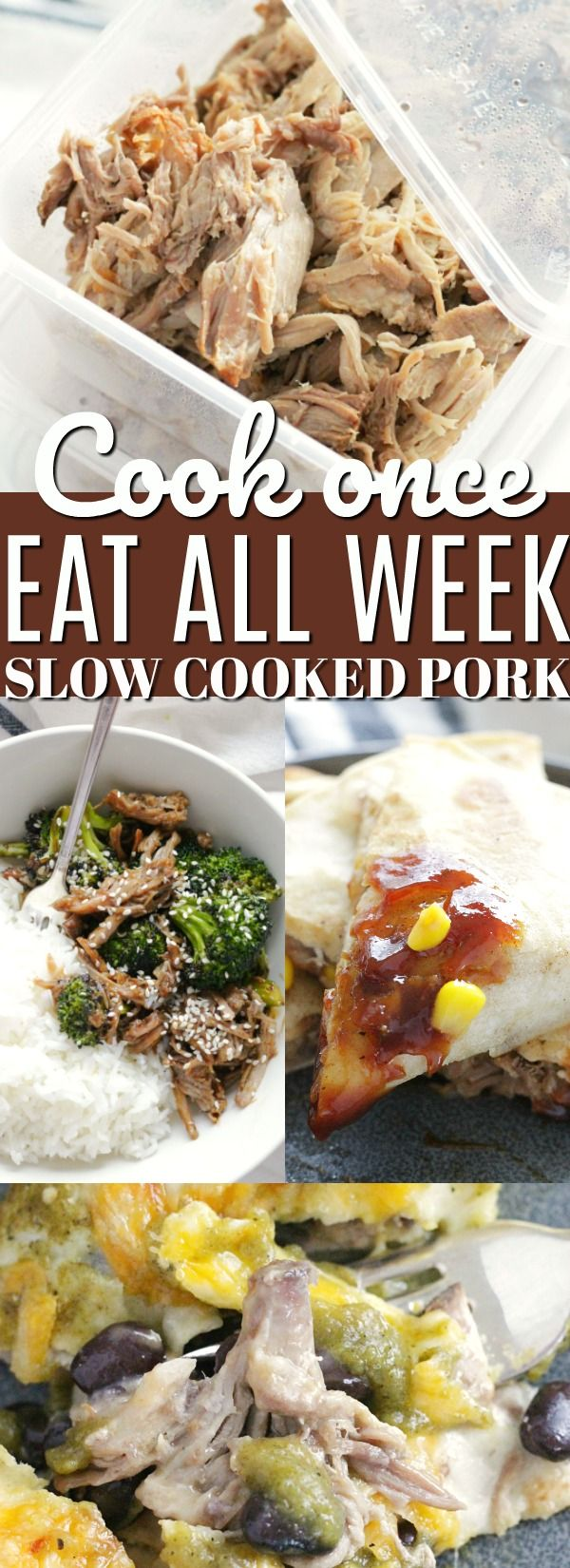 Cook One Eat All Week with Slow Cooker Pork | Foodtastic Mom #ad #ohpork