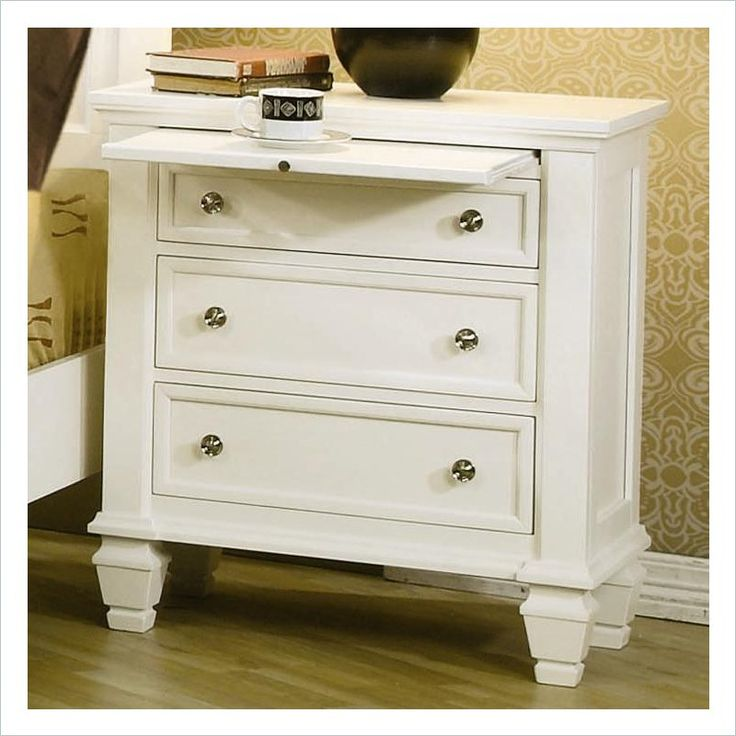 Sandy Beach Bedroom Set White Part - 44: Coaster Sandy Beach Night Stand In White - Sandy Beach Bedroom Collection.  The Sandy Beach Collection Will Infuse Your Master Bedroom Decor .