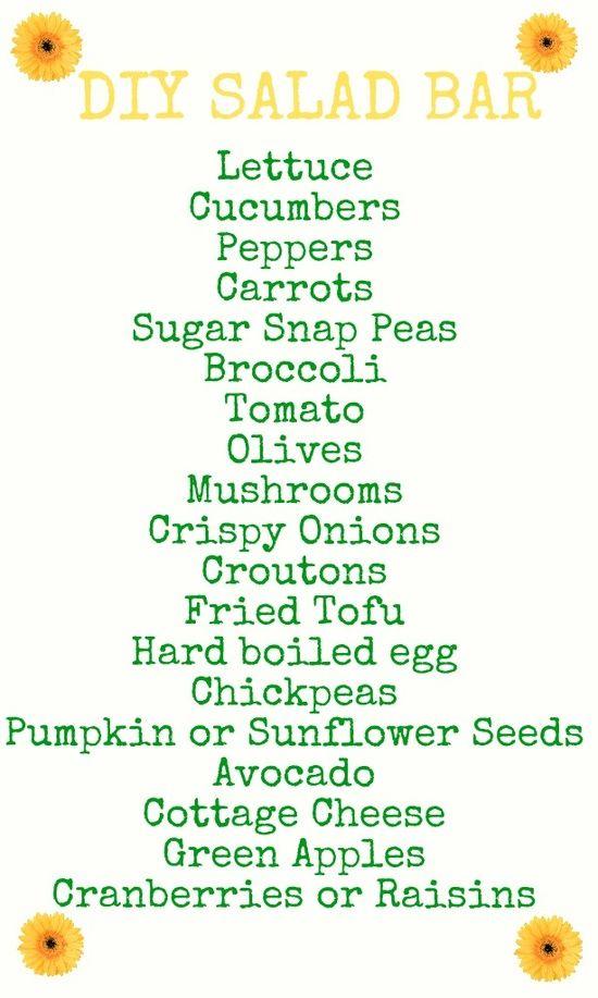 DIY Salad Bar Topping Ideas - foodandsome