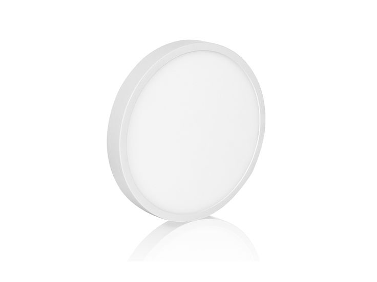 LED Panel-Aufbauleuchte Aufputzmontage rund, 12W warm weiß, 230V IP20