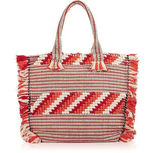 Whistles Woven Fringed Tote (160 CAD) ❤ liked on Polyvore featuring bags, handbags, tote bags, multi, woven tote, tote bag purse, fringe handbags, cotton tote and fringe purse