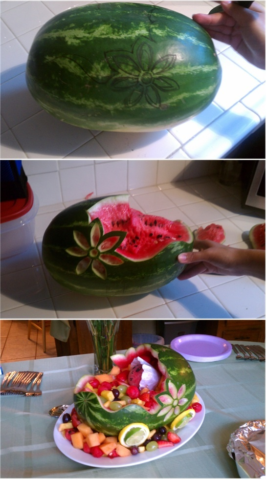 Watermelon Carriage With A Baby!