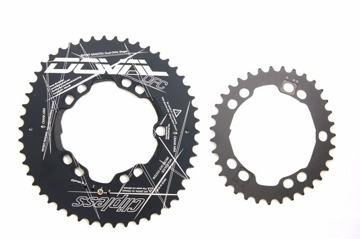 2016 DFC Doval Clipless Chainring Double set BCD110 MGLR ALL-in-one #DOVAL