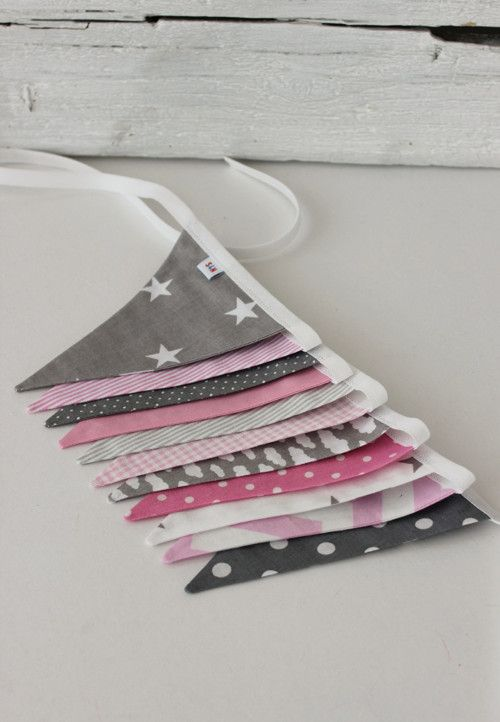 "Praporky \""Pink & Grey\"""