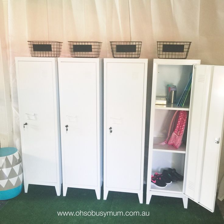 Kids School Station Using The Kmart Lockers - Oh So Busy Mum