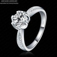 S925 2015 belle brilliant anelli per le donne wedding jewelry cubic zirconia intarsiato anelli di fidanzamento bijoux donne bagues BRI0134-B