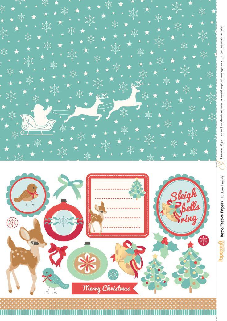 Retro festive free printables from Papercraft Inspirations 145