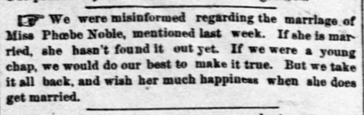 Troy Kansas newspaper 12/31/1884   At least they apologized.