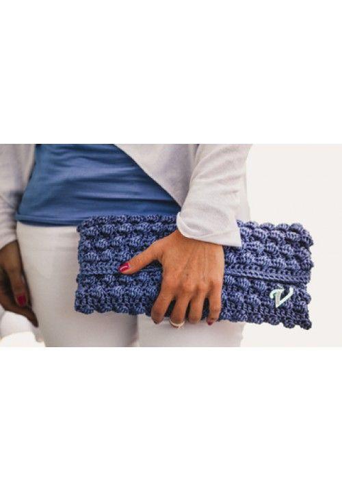 """ORTANSIA"" CLUTCH BAG Handmade Materials:Silk Cord"