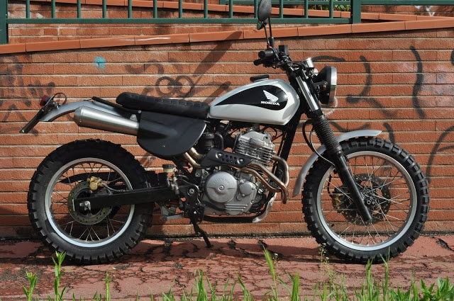 Honda SLR 650 Scrambler - found on RocketGarage