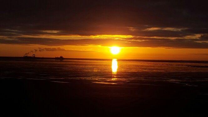Zonsondergang bij Marina aan 't wad, Schiermonnikoog #waddenzee